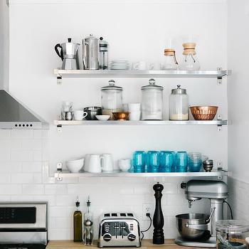 Ikea stainless steel shelves design decor photos pictures ideas inspiration paint colors - Ikea beech kitchen cabinets ...