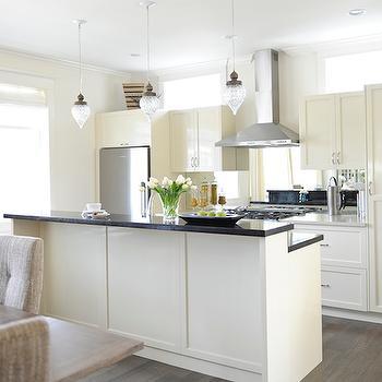 kitchen island with raised breakfast bar. Cream Kitchen Cabinets Island Raised Breakfast Bar Design Ideas