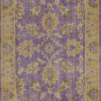 2 X3 Purple And Gold Block Print Dhurrie Rug World Market