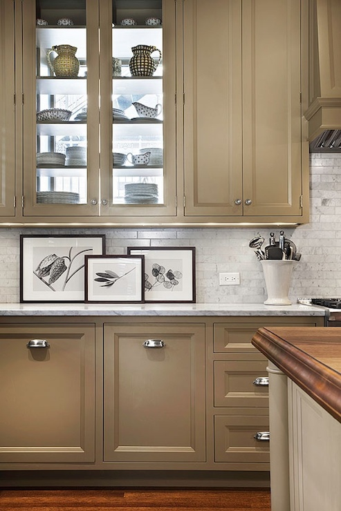 taupe kitchen cabinets - contemporary - kitchen - pratt and
