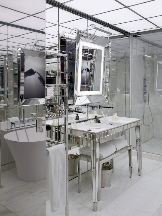 Mirrored Washstand - Contemporary - bathroom - Le Royal Monceau ...