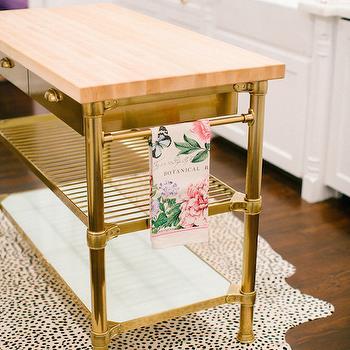 Williams Sonoma Home Stone Top Kitchen Island Design Ideas