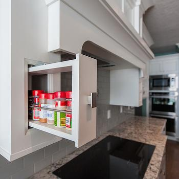 Pull Out Spice Cabinet, Transitional, kitchen, Mountain Cabinetry