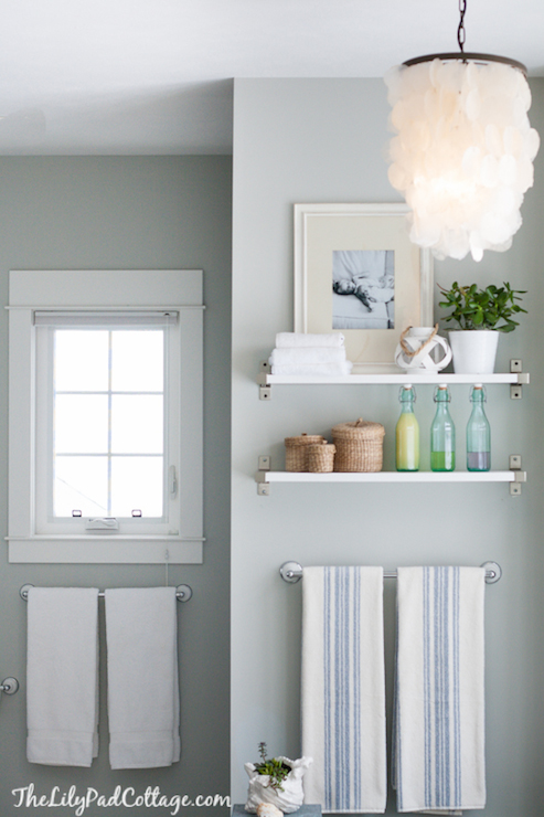Ikea Shelf Cottage Bathroom Benjamin Moore Arctic Gray The Lily Pad Cottage
