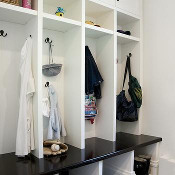 Mud Room Open Lockers Design Ideas