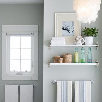 Arctic Gray Cottage Bathroom Benjamin Moore Arctic Gray The Lily Pad Cottage