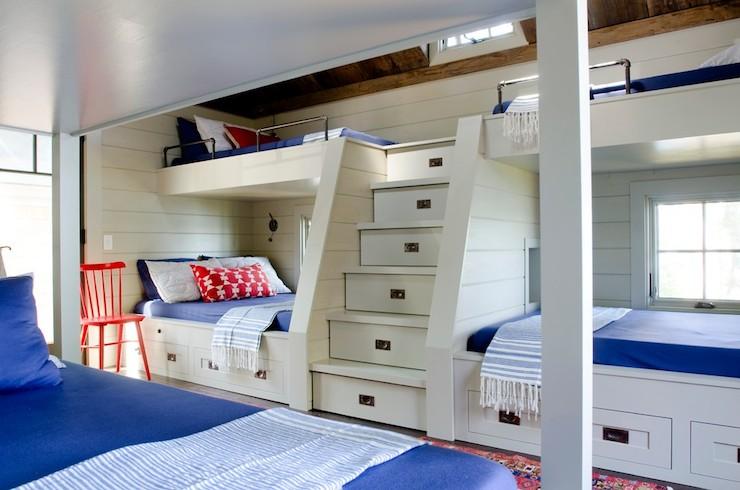 Bunk Bed Steps Country Bedroom Kristina Crestin Design