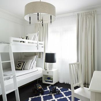 Blue Trellis Rug, Contemporary, boy's room, Greg Natale