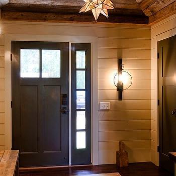 Barn Board Ceiling, Country, entrance/foyer, Kristina Crestin Design