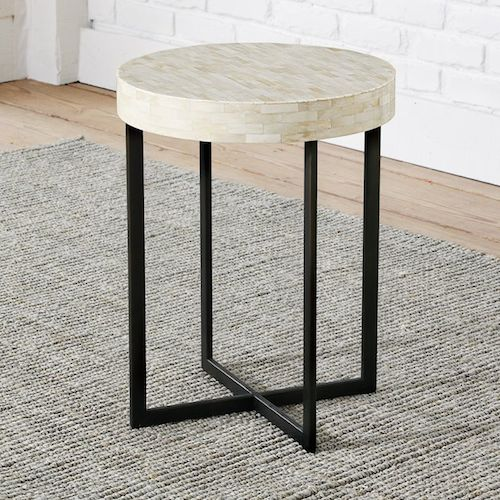 West Elm Bone Side Table View Full Size