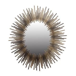 Oval Gold and Silver Iron Mirror, Overstock.com