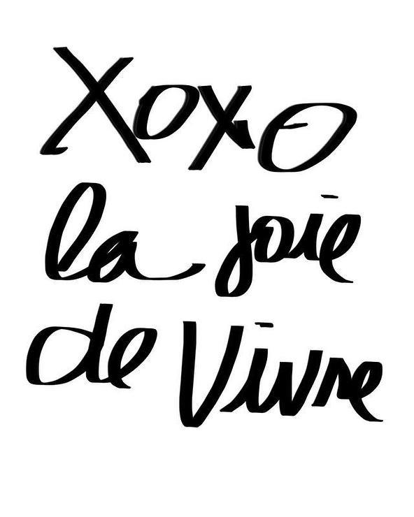 xoxo la joie de vivre black and white print