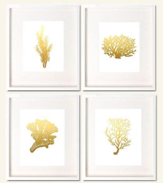 Framed Blue Coral Prints