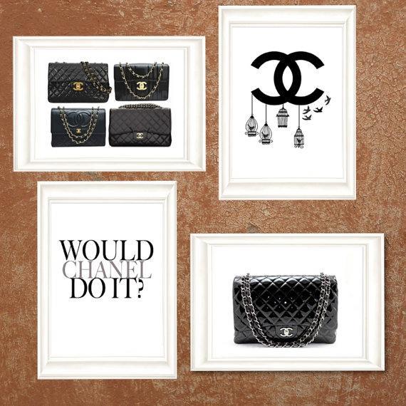 0a01e211dbae71 Four Black and White Chanel Dream Prints