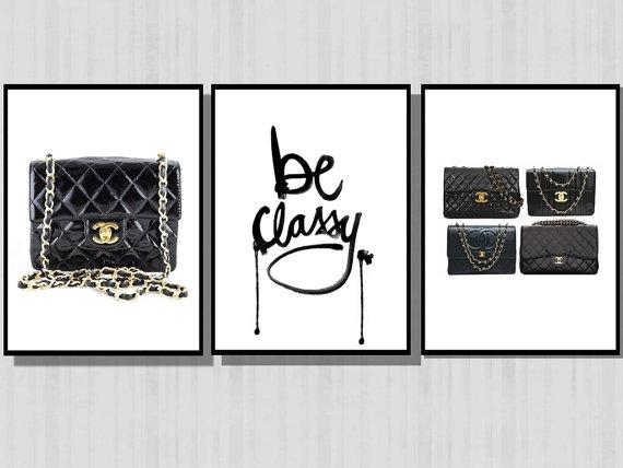 f8a470fff162 Be Classy Chanel Purses Black and White Prints