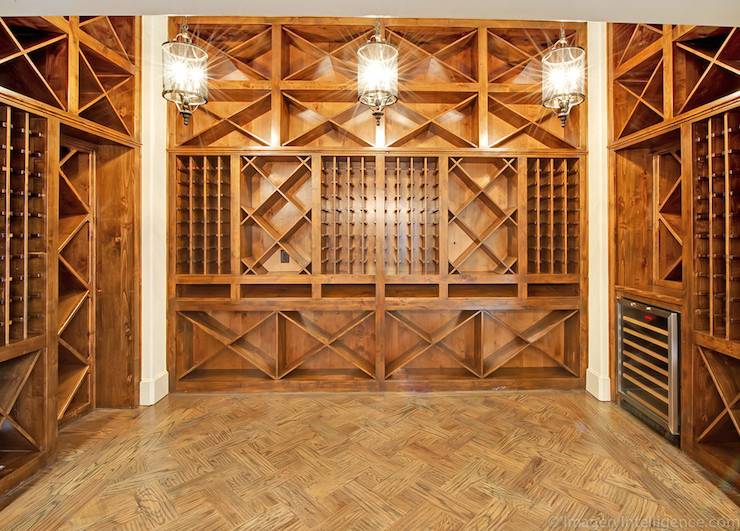 Built in wine racks contemporary basement venetian homes for Wine rack built in