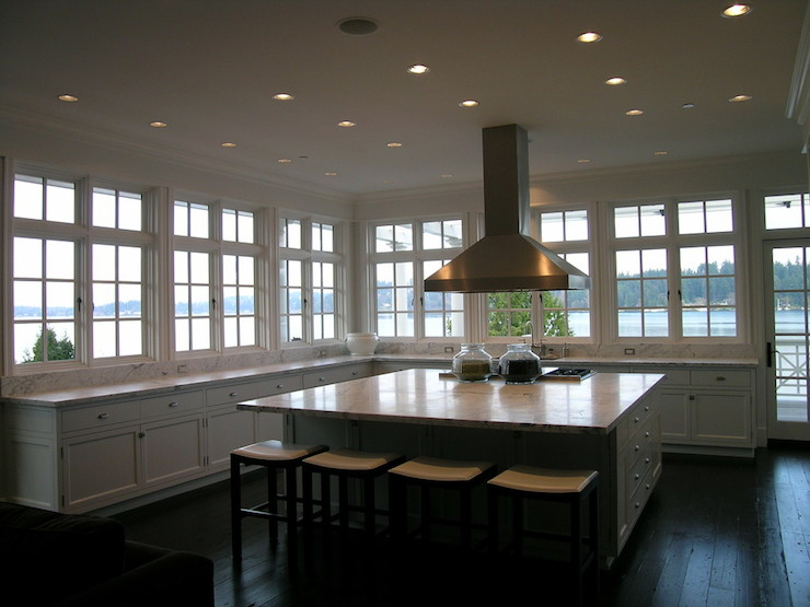 Windows In Place Of Upper Cabinets Design Ideas