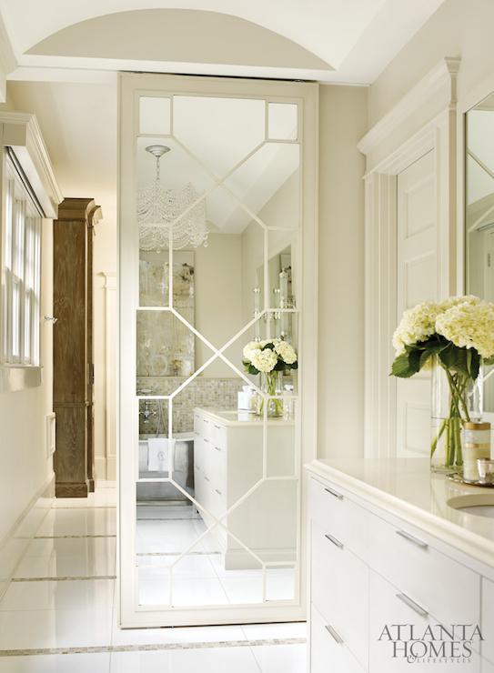Geometric Mirrored Closet Door Design Decor Photos