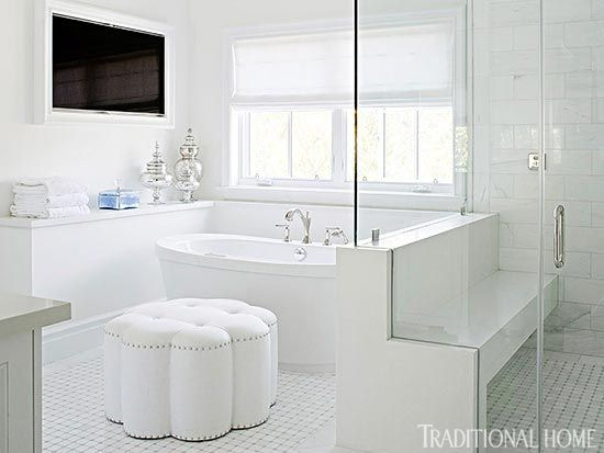Spa like bathroom traditional bathroom tim barber for Built in tub dimensions