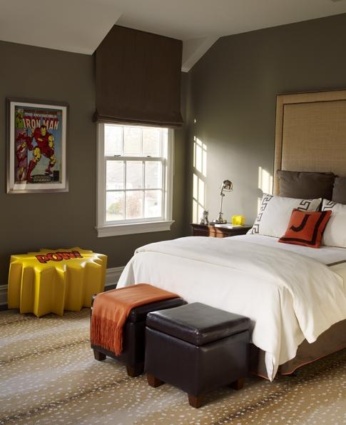 Burlap headboard contemporary boy 39 s room katie by design - Boys bedroom paint ideas ...