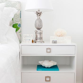 Pineapple Lamp, Cottage, bedroom, Oliveaux