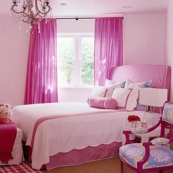 Hot Pink Curtains, Traditional, girl's room, Katie by Design