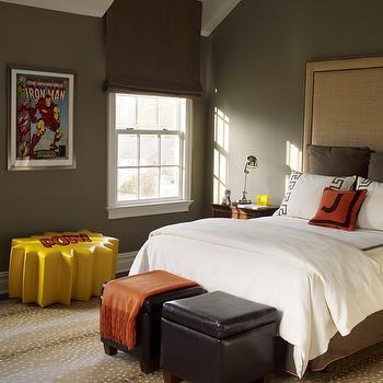 Burlap Headboard, Contemporary, boy's room, Katie by Design