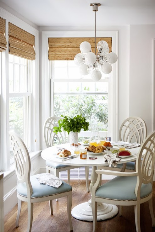 Breakfast nook ideas transitional dining room laura for Dining room nook ideas
