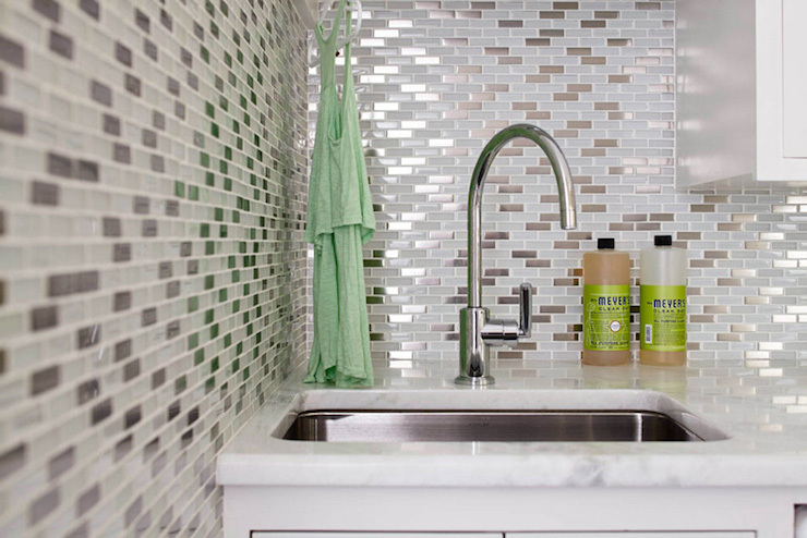 Mosaic Glass Backsplash