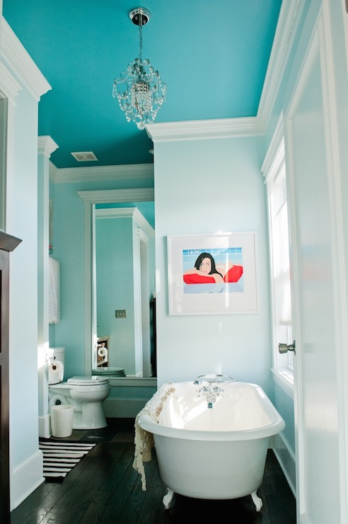 Turquoise Claw Foot Tub Design Ideas