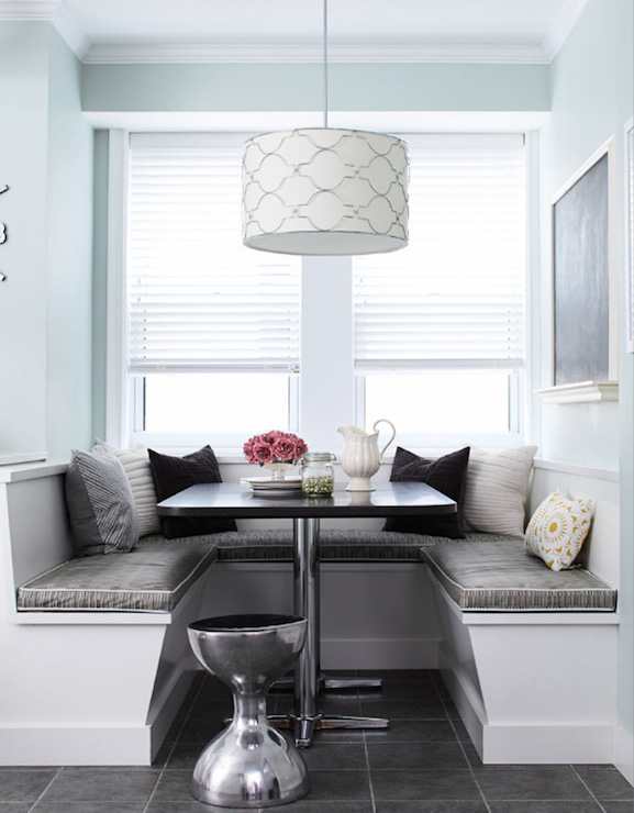 window seat banquette contemporary dining room delicious designs. Black Bedroom Furniture Sets. Home Design Ideas