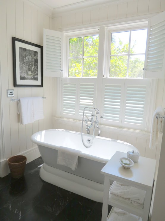 Bathroom Plantation Shutters Cottage Bathroom