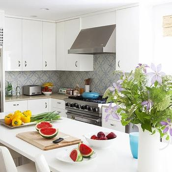 Caesarstone Blizzard White, Contemporary, kitchen, Laura Wilmerding Interiors