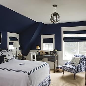 Rugby stripe duvet and shams cottage boy 39 s room for Boys rugby bedroom ideas