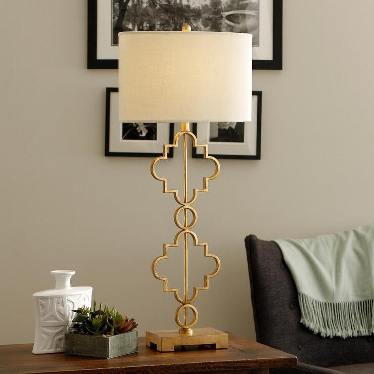 Stardust Single Light Gold Leaf Table Lamp