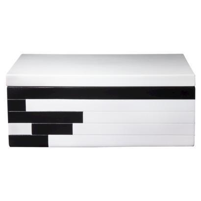 Black And White Decorative Boxes Alluring Berkus Black And White Decorative Box Inspiration Design