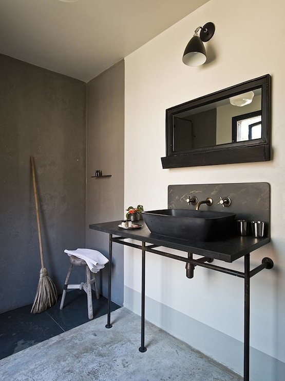 Industrial Cart Washstand Eclectic Bathroom The Iron