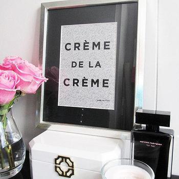 Creme De La Creme Art Print Wall Art Silver by prettychicsf I Etsy