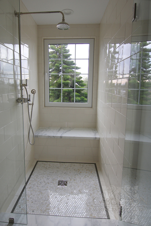Ceramic Shower Surround Transitional Bathroom