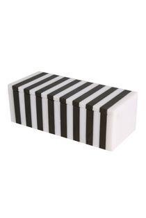 Striped Black And White Box