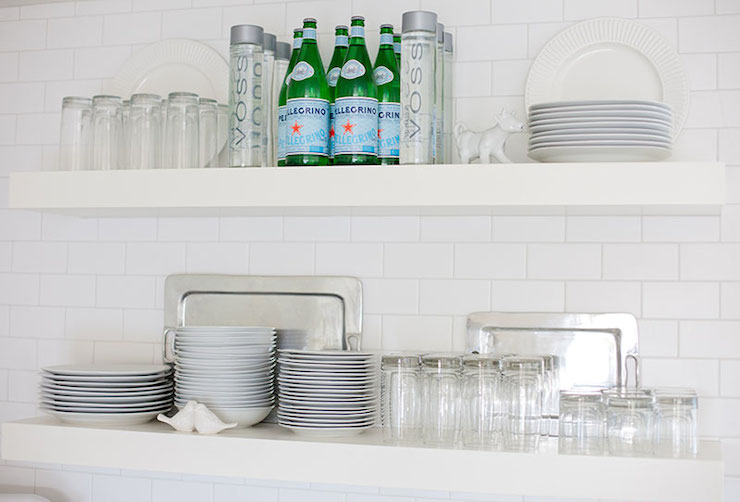 Floating Kitchen Shelves Contemporary kitchen LIV