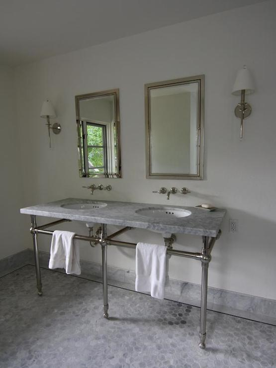 Gray Tile Bathroom Transitional Bathroom Bhg