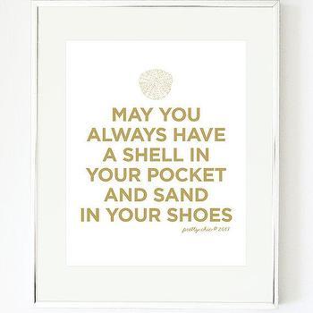 Shell Art Print Beach May You Always Sea Shells by prettychicsf I Etsy