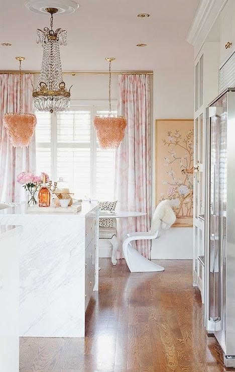 Pink Chandeliers Eclectic Kitchen Bijou And Boheme