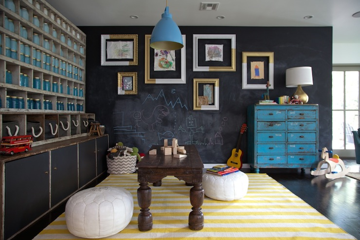 Chalkboard Accent Wall Eclectic Boy S Room Eric