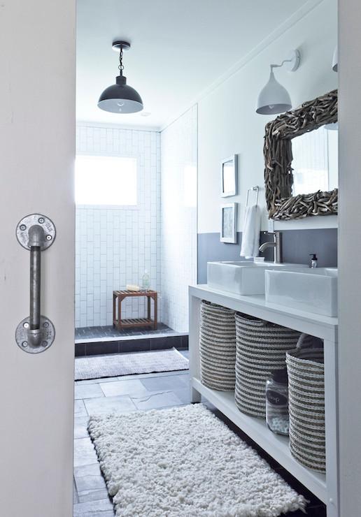 Swirl Rug - Transitional - Bathroom - Andrew Howard Interior Design