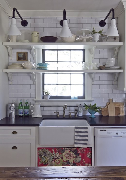 Shelves In Front Of Window Cottage Kitchen Milk And Honey Home
