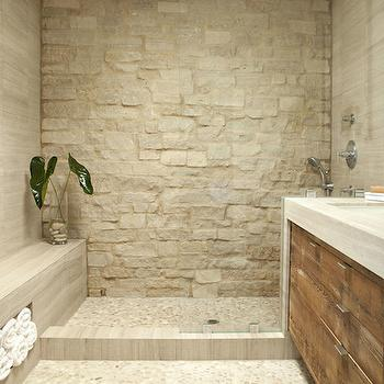 Zen Bathroom Remodels pebble shower floor design ideas