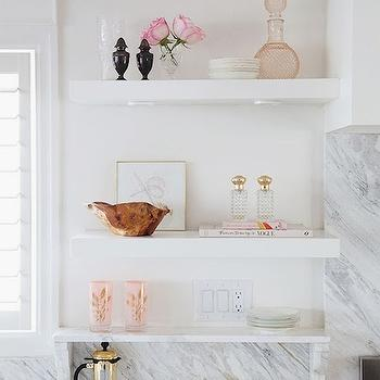Marble Floating Shelf Design Ideas