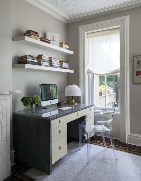 home office ideas transitional den library office